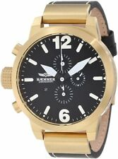 Haemmer Men's HC-15 Platon Chronograph Black Dial Gold Coated Watch