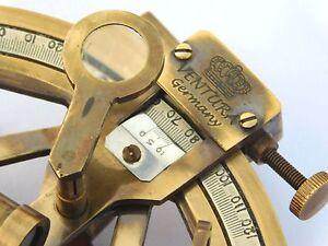 Germany Antique Brass Sextant Nautical Desktop Sextant Vintage Decor