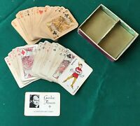 Vintage/Antique Miniature Playing Cards In Original Box 2 Complete Decks