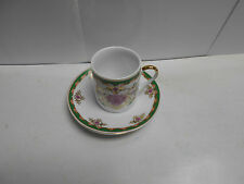 Holsted House Demi-Tasse Ceramic Cup & Saucer Mini Set. N445