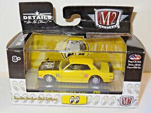 M2 MACHINES AUTO-JAPAN MOONEYES YELLOW / BLACK 1971 NISSAN SKYLINE GT-R