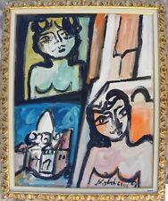 Gustavo Boldrini (Venezia 1927-Salsomaggiore) Composizione e nudini 1969 100x80