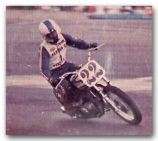 FRANK GILLESPIE ON TRIUMPH 750 MOTORCYCLE TRADING CARD DIRT FLAT TRACK FLATTRACK