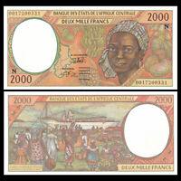 Central African (Equatorial Guinea), 2000 2,000 Francs, 2000, P-503Ng, UNC