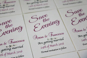 50 Save The Date Cards Magnetic Wedding Evening invitation Cards + Envelopes NEW