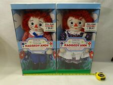 Raggedy ANN & Andy SET Talking (No sound) Doll, Collector's Ed. Applause new box