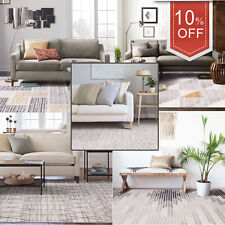 Grey Beige Floor Area Rug Geometric Morrocan Diamond Modern Carpet 160x230cm