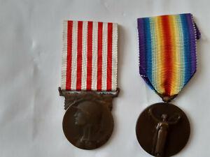 médailles grande guerre 14-18 et pour la civilisation 14-18