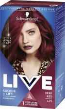 5 X Schwarzkopf Live Intense Colour + Lift L75 Deep RED Permanent