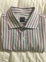 Mens Ike Behar New York Long Sleeve Button Front Shirt - Size 17 1/2 34/35