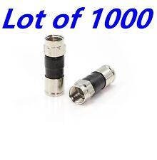 LOT 1000 RG6 EX6XLPLUS PPC Coax Cable FITTINGS Compression Directv CONNECTORS XL