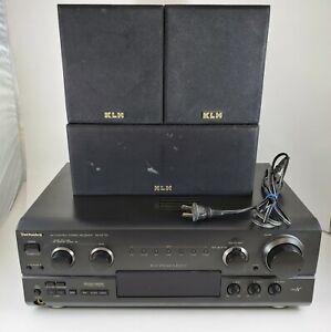 Technics SA-AX720 Stereo Receiver * No Remote * W/ 3 KLH Speakers