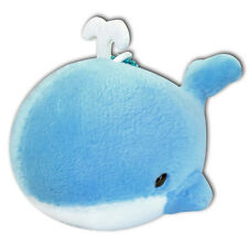 Blue Whale Blowing Water Soft Plush Stuffed Animals Keychain Cute New