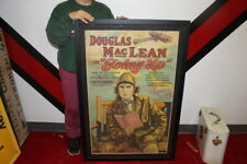 """Original Vintage 1923 """"Going Up"""" Douglas MacLean WWI Airplane Movie Poster Sign"""
