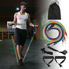 11Pcs Set Resistance Bands Workout Exercise Crossfit Fitness Yoga Training S1A7