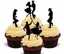 Line Dancing / Square Dance -Edible Cupcake Toppers - Fairy Cake Decorations Bun