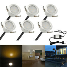 31mm LED Deck Light Recessed Wood Decking Stairs Outdoor Garden Yard Patio Lamp