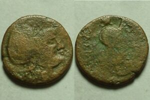 Rare genuine Ancient Greek coin Minerva Athena
