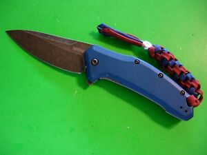 "NTSA KERSHAW USA ""LINK"" 4 1/2"" CLOSED LINER LOCK POCKET KNIFE #1776 NB BW"