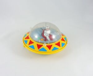 Battery Operated SPACE SHIP DB-2 yellow UFO 1970s OK Toys flying saucer DB-3 HK