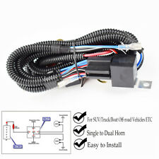 12V Horn Wiring Harness Relay Grille Mount Blast Tone Horns 150cm Wire+Plastic