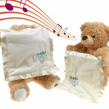 NEW Peek A Boo Teddy Bear Toddler Kids Children Play Soft Toy Plush Blanket