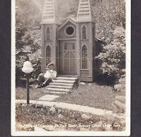 Tiny Town Real Photo Miniature Church Turkey Creek Canyon Colorado RPPC PostCard