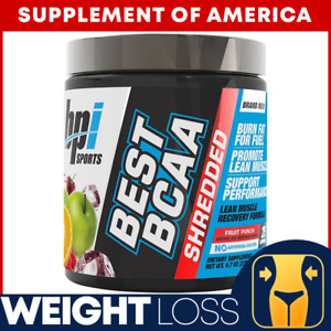 "Best BCAA Shredded WEIGHT LOSS RECOVERY Fruit Punch Flavor ""FREE SHIPPING"""