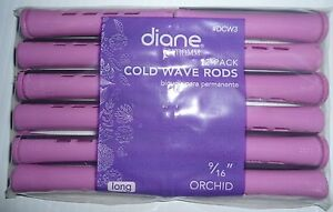 """Diane 9/16"""" Cold Wave Rods Curlers Hair Perm #DCW3 12-pieces - Orchid Long"""