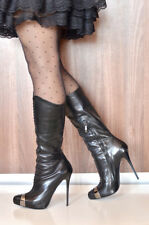 Gianmarco Lorenzi Made in Italy stiletto high heels platform gml boots 39,5