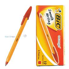 BIC Orange Fine 0.7mm Easy Glide ball point pen 1 BOX 12 PCS - RED