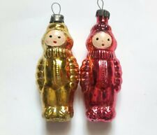 Vintage Soviet Glass Christmas Ornament Decoration Space Toy Cosmonaut USSR