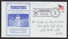 Geraldine Specst, Tomstone Az Postmaster, Signed Cover