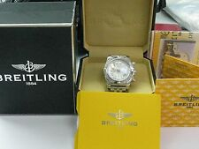 Breitling Chronograph 44 Mother of Pearl Dial Watch BRAND NEW BOX A691