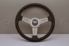Nardi Personal Steering Wheel - Classic - 340mm - Black Leather / White Spokes