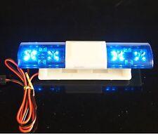 RC 1:10 Rescue Police Car Blue Night Flash Bright LED Rotation Demo