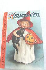 GET AHEAD!!! HALLOWEE'EN  MESSAGE  POSTCARD BOOK  30