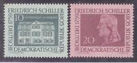 Germany DDR 467-68 MNH 1959 Birth of Friedrich von Schiller 200th Anniversary