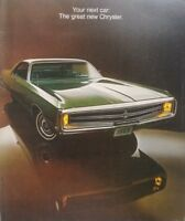 1969 Chrysler New Yorker Newport Sales Brochure Dealership Advertisement Catalog