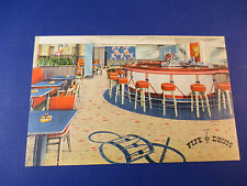 The Fife Drum Hotel Witherill Plattsburg,Ny Vintage Colorful Postcard Pc14