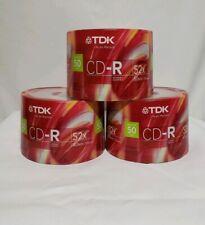 TDK CD-R80CB50 CD-R Data, 80 Minute, 700 MB, 52x 50-Pack B12 Set of 3