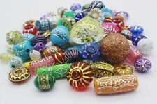 100 pce Antique Style Etched Acrylic Beads Various Sizes, Shapes & Colours