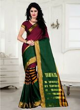 Trendy red Tussar Silk Saree with blouse (TZ_VV)