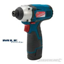 "Silverline Silverstorm 10.8V Impact Driver 1/4"" quick release charger 652640"