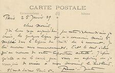 Peinture Art René-Juste lettre autographe signée 1929 exposition Crozant