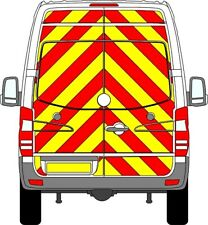VW CRAFTER 2006-2017 CHAPTER 8 REFLECTIVE Chevron Sticker Kit FULL PRISMATIC