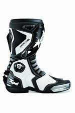 XPD XP3-S S55-011 MOTORCYCLE BOOTS, BLACK / WHITE - SIZE 40 (UK 6.5 / US 7)