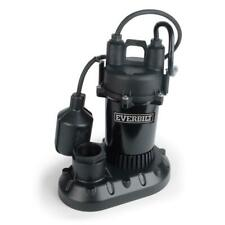Everbilt 1/2 HP Submersible Aluminum Sump Pump with Tethered Switch