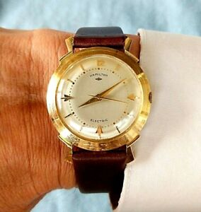 Hamilton Electric Vintage Van Dorn Solid 14k Gold Watch in Superb Condition