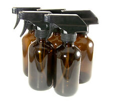 (5) 8 oz. amber glass spray top bottles essential oils doTERRA do it yourself
